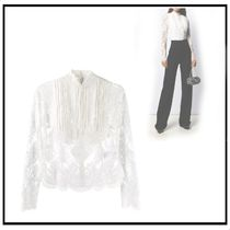 ERMANNO SCERVINO Lace-up Long Sleeves Cotton Party Style Elegant Style