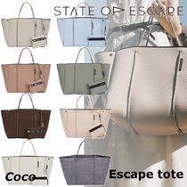 State of Escape Casual Style A4 Plain Handmade Elegant Style Shoulder Bags