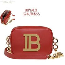 BALMAIN Casual Style 2WAY Leather Elegant Style Shoulder Bags