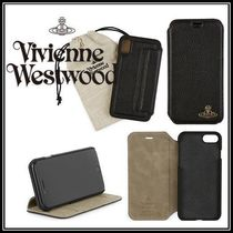 Vivienne Westwood Unisex Plain Leather Smart Phone Cases