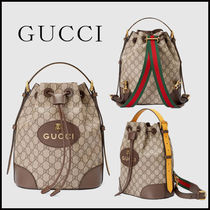GUCCI GG Supreme Monogram Casual Style Unisex Blended Fabrics Street Style