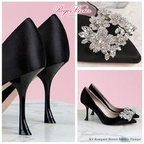 Roger Vivier Blended Fabrics Plain Leather Pin Heels Party Style
