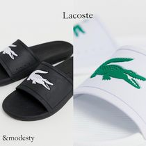 LACOSTE Street Style Plain Shower Shoes Shower Sandals