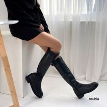 Platform Round Toe Casual Style Suede Faux Fur Street Style