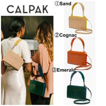 CALPAK Casual Style 3WAY Plain Other Animal Patterns Leather