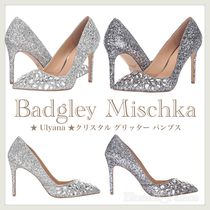 Badgley Mischka Pin Heels Party Style With Jewels Pointed Toe Pumps & Mules