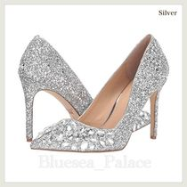 Badgley Mischka Pin Heels Party Style With Jewels Glitter