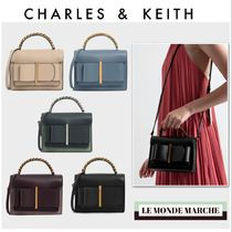 Charles&Keith Casual Style Faux Fur 2WAY Chain Plain Party Style