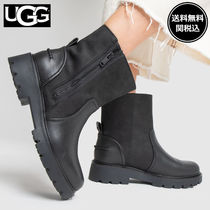 UGG Australia POLK Round Toe Casual Style Plain Leather Ankle & Booties Boots