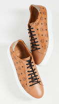 MCM Street Style Leather Sneakers