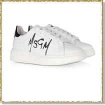 MSGM Plain Leather Low-Top Sneakers
