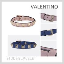 VALENTINO Studded Leather Bracelets
