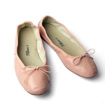 PORSELLI Street Style Plain Leather Handmade Ballet Shoes