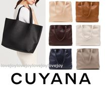 CUYANA Casual Style Plain Leather Office Style Elegant Style Totes