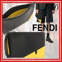 FENDI Calfskin Bi-color Clutches