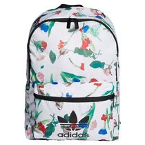 adidas Flower Patterns Casual Style Street Style Logo Backpacks