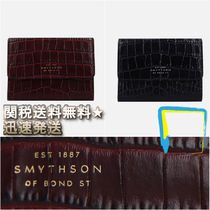 SMYTHSON Calfskin Other Animal Patterns Small Wallet Coin Cases