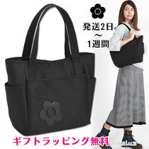 MARY QUANT Flower Patterns Casual Style A4 Plain Office Style Totes