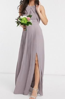 Maxi Sleeveless Halter Neck Plain Long Party Style Dresses