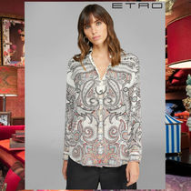 ETRO Paisley Silk Long Sleeves Elegant Style Shirts & Blouses