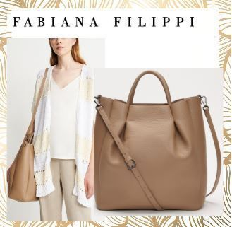 Casual Style A4 2WAY Plain Leather Office Style Crossbody
