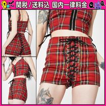 DOLLS KILL Short Other Check Patterns Casual Style Cotton