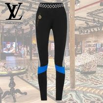Louis Vuitton Monogram Casual Style Nylon Bi-color Plain Long Skinny Pants