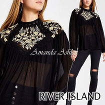 River Island Long Sleeves Plain Medium Party Style Puff Sleeves