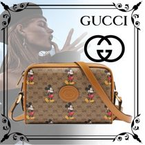 GUCCI Monogram Casual Style Canvas Street Style Collaboration