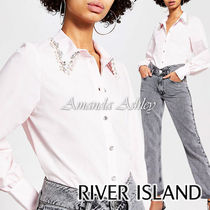 River Island Long Sleeves Plain Medium Party Style With Jewels