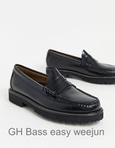 GH Bass&Co Loafers Plain Leather Loafers & Slip-ons