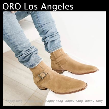 ORO LOS ANGELES More Boots Suede Street Style Plain Leather Boots