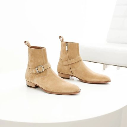 ORO LOS ANGELES More Boots Suede Street Style Plain Leather Boots 3