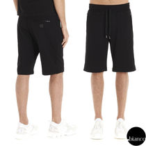 Dolce & Gabbana Sweat Plain Cotton Joggers Shorts