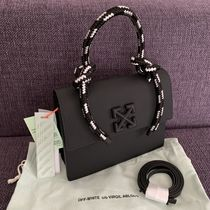 Off-White 2WAY Plain Leather Shoulder Bags