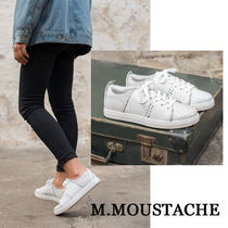 M. MOUSTACHE Casual Style Street Style Plain Leather Low-Top Sneakers