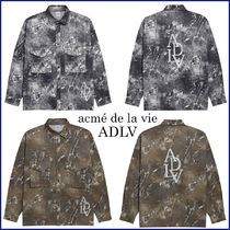 acme de la vie Camouflage Unisex Street Style Long Sleeves Cotton Oversized