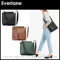 Everlane Casual Style Unisex Street Style Plain Leather Shoulder Bags