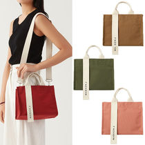 MARHEN.J Casual Style Canvas 2WAY Plain Shoulder Bags