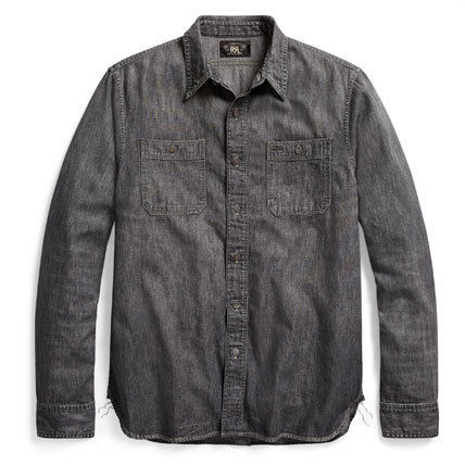 Button-down Denim Long Sleeves Cotton Surf Style Shirts