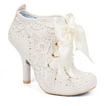 Irregular Choice Round Toe Lace-up Pin Heels Party Style Boots Boots