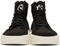 Y-3 Round Toe Rubber Sole Lace-up Street Style Plain