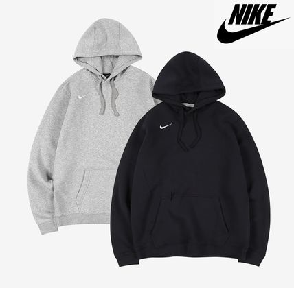 Nike Hoodies Unisex Street Style Long Sleeves Plain Logo Hoodies
