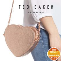 TED BAKER Heart 2WAY Chain Leather Crossbody Logo Shoulder Bags