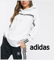 adidas Street Style Long Sleeves Plain Logo Hoodies & Sweatshirts