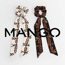 MANGO Scrunchy Casual Style Chain Party Style Office Style