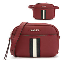 BALLY Casual Style Leather Office Style Logo Shoulder Bags