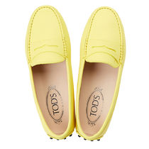 TOD'S Casual Style Leather Party Style Office Style Elegant Style