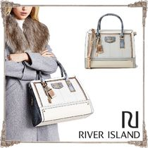 River Island Faux Fur Other Animal Patterns Elegant Style Totes