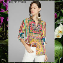 ETRO Silk Long Sleeves Elegant Style Shirts & Blouses